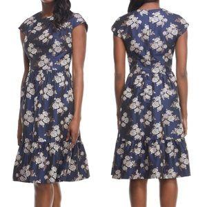 Gal Meets Glam Jenny Rose Jacquard Dress